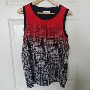 Calvin Klein Colorful sleeveless summer top Red